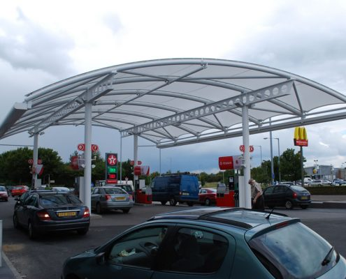 FLAT PITCHED & Tensile Canopy Structures - Downer International