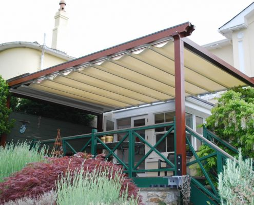 Retractable Canopy/Pergola Systems & Retractable Canopy Systems - Downer International